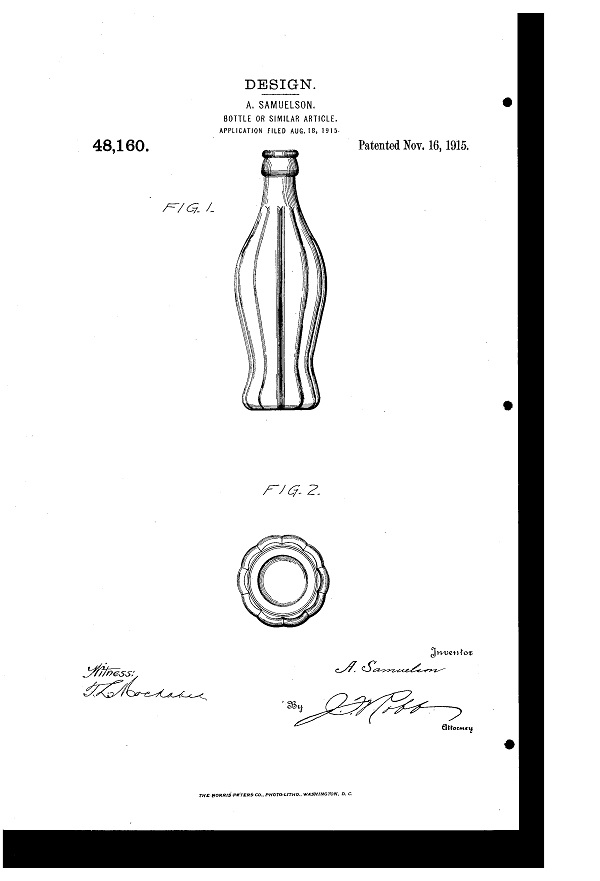 coca cola patente original